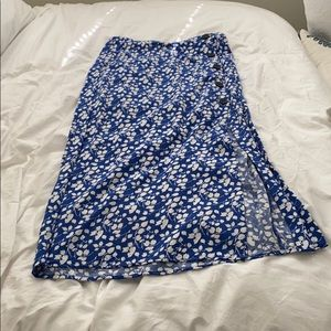 Abercrombie & Fitch Skirts - Abercrombie & Fitch Blue Midi Skirt